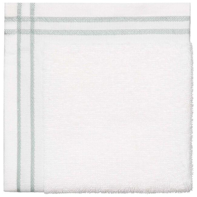 Prénatal monddoekjes badstof met streep - White