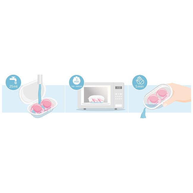 Philips Avent Ultra Soft fopspeen 6-18 maanden roze 2-pack - Purple