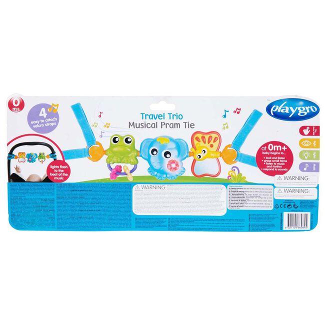 Playgro Travel Trio Musical Wagenspanner - Multi