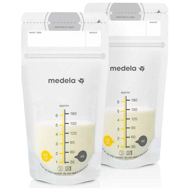 Medela moedermelkbewaarzakjes 25 stuks - Onbehandeld/Naturel