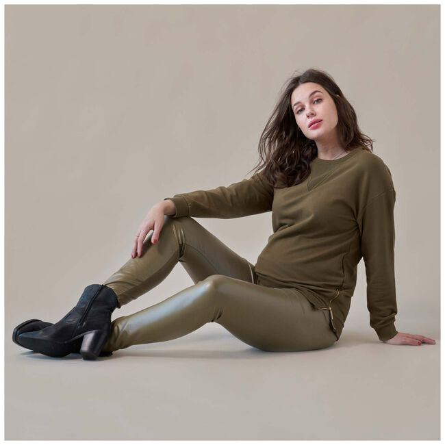 Prénatal zwangerschapstregging - Dark Olive Green