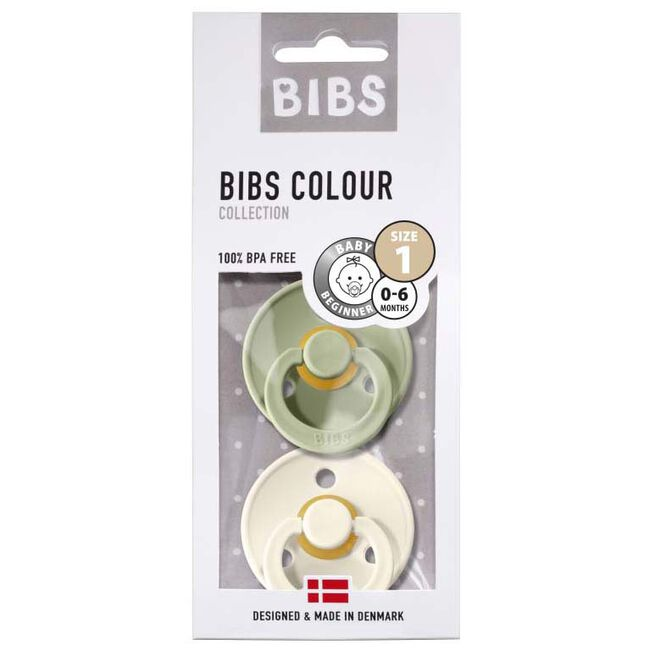 Bibs fopspeentje Size 1 - Light Green Melange