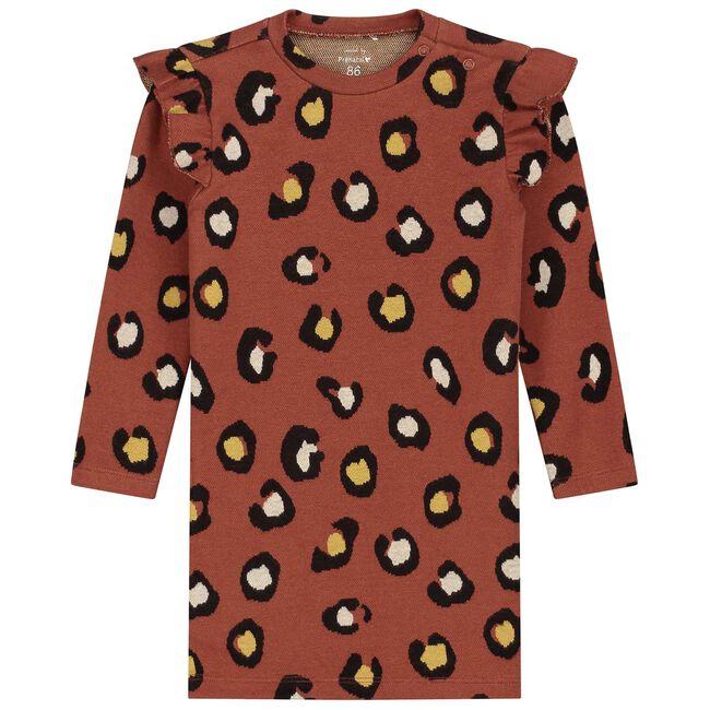 Prénatal baby meisjes jurk - Red Brown