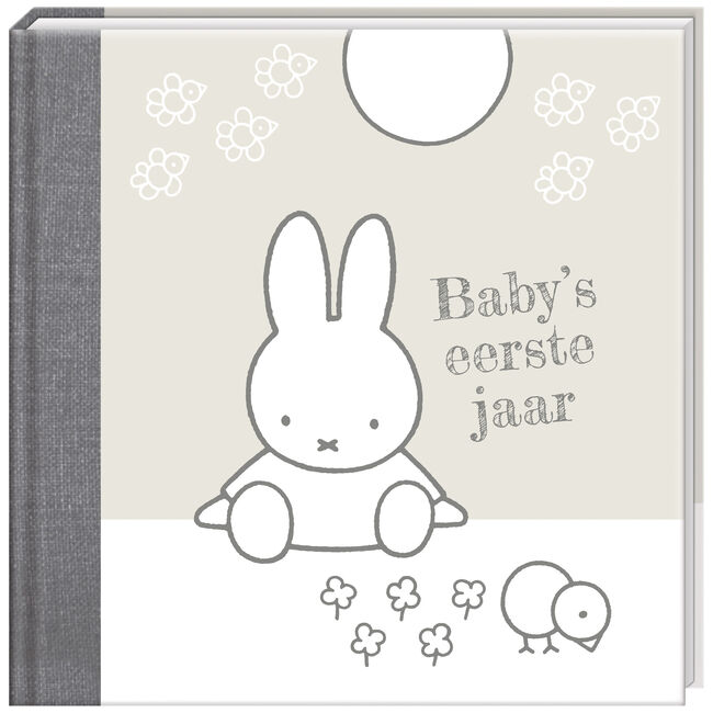 8cac61b13fa Baby's eerste jaar Nijntje grijs