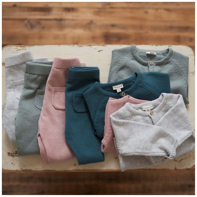 Prénatal newborn unisex vestje - Soft Grey Melange