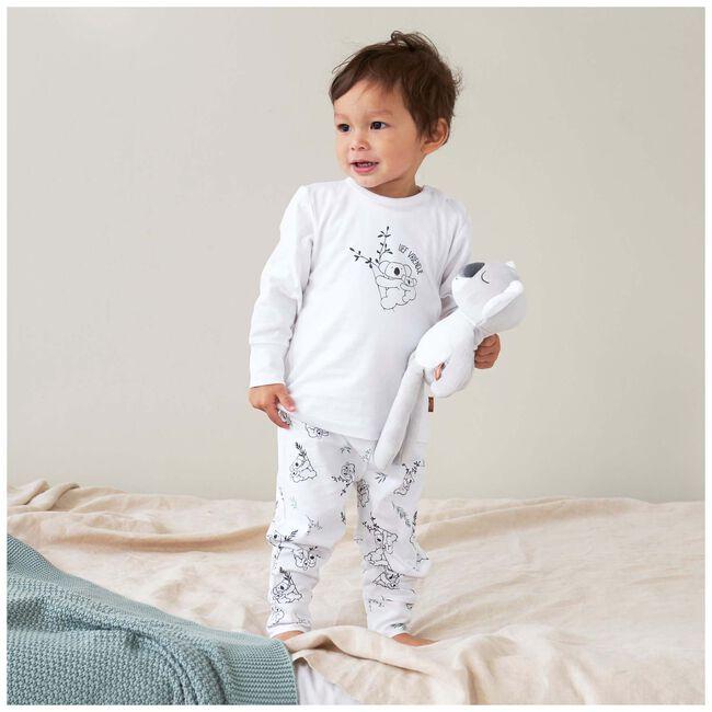 Prénatal unisex peuter pyjama - White