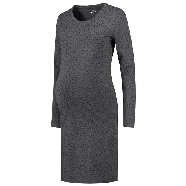 Prenatal zwangerschaps jurk - Grey Melee Dark