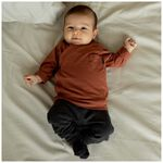 Prenatal newborn unisex broek - Deep Grey Melange