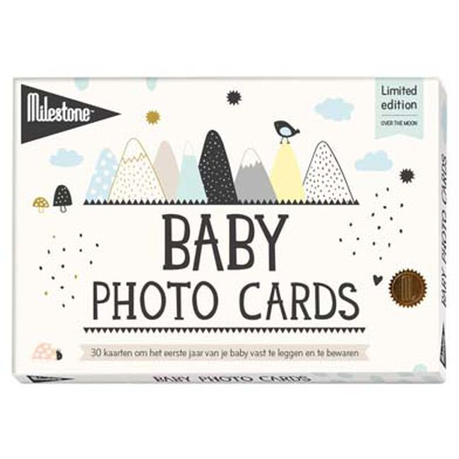 Milestone baby fotokaarten Over the Moon - Multi