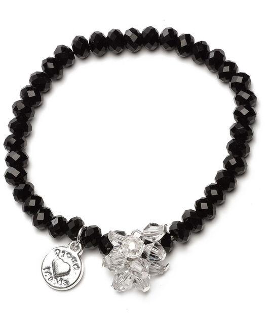 Proud MaMa armband zwart beads - Black
