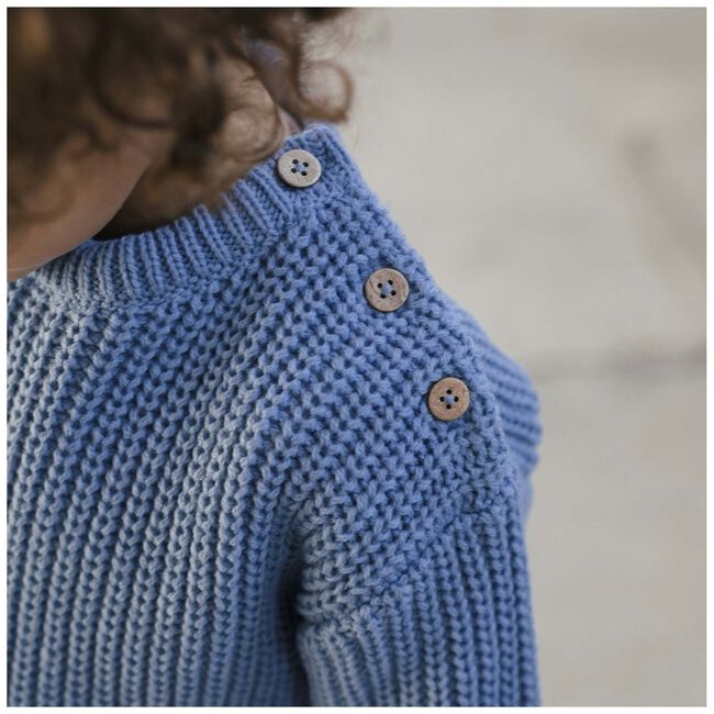 Sweet Petit peuter unisex trui Rikki - Blue Grey