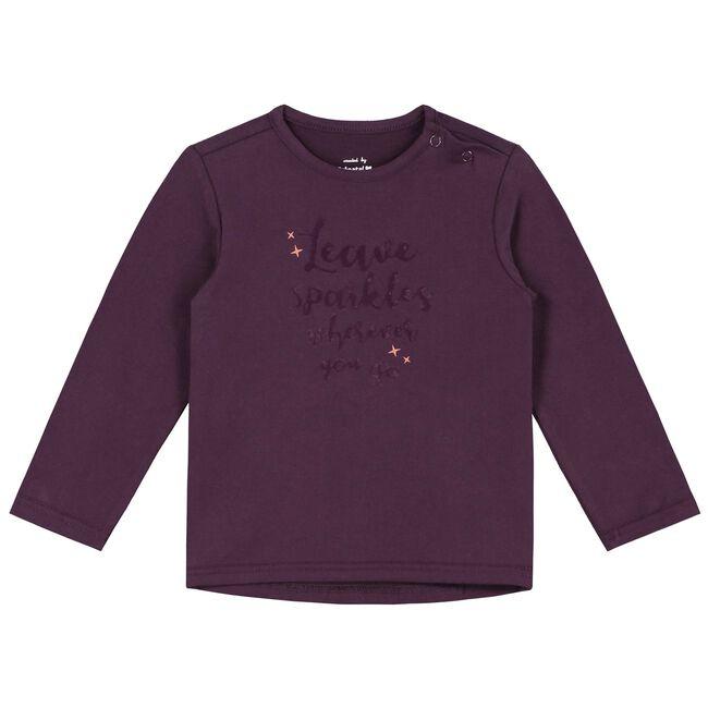 Prenatal baby meisjes T-shirt - Deep Purple