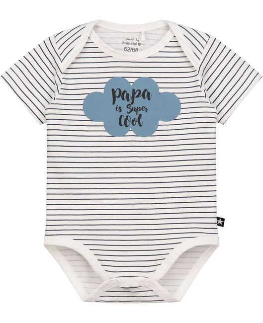 Prenatal jongens romper papa - White