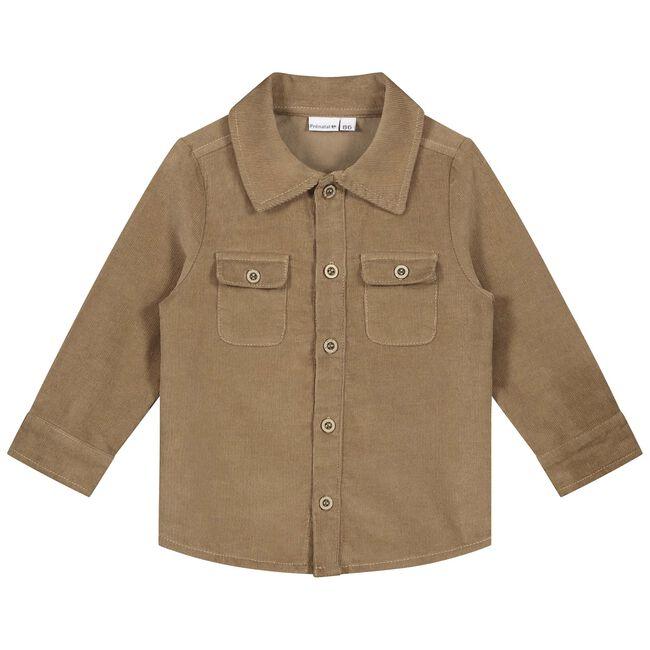 Prénatal peuter jongens blouse - Light Taupe Brown