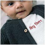 Prenatal newborn unisex shirtje - Light Ecru Melange