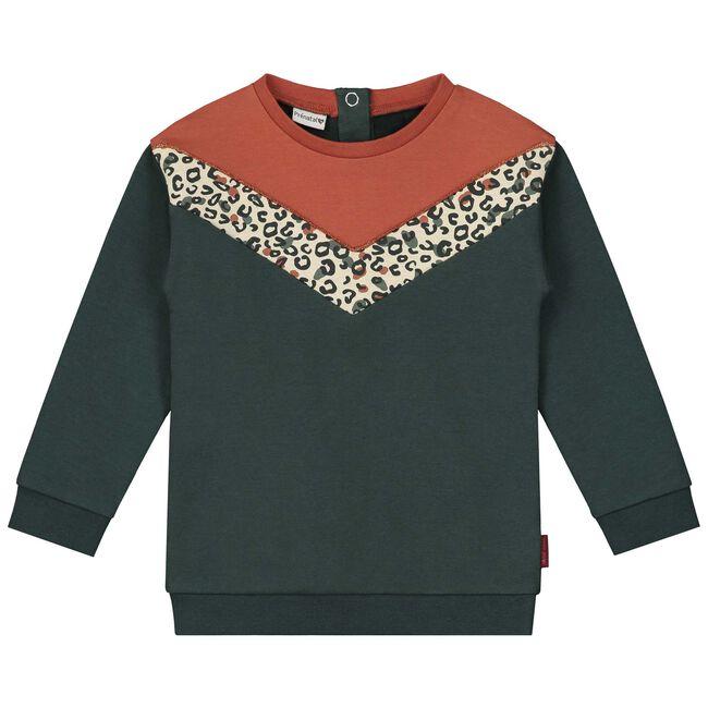 Prénatal peuter meisjes sweater - Dark Green Blue