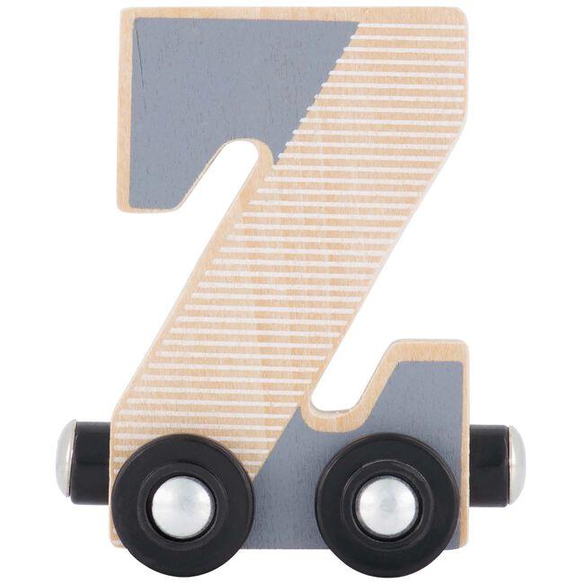 Prénatal houten namentrein letter Z - Grijs