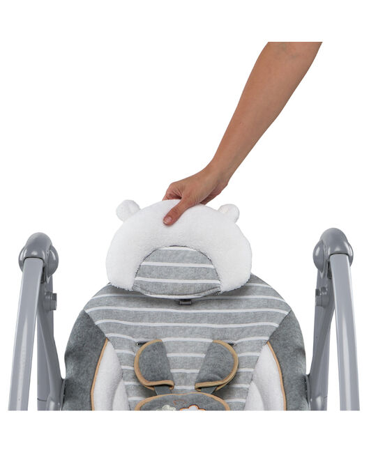Bright Starts Ingenuity Swing and Go Bella Teddy Boutique babyswing - Lightgrey