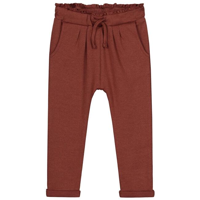 Prénatal peuter meisjes broek - Red Brown
