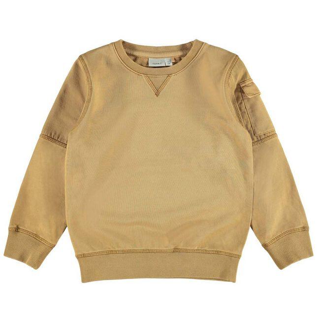 Name it peuter jongens sweater - Darkbrown