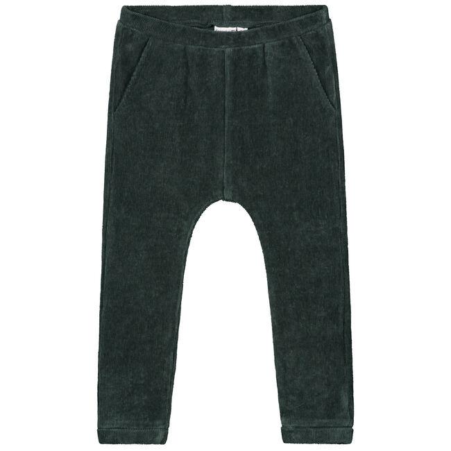 Prénatal peuter meisjes broek - Dark Green Blue
