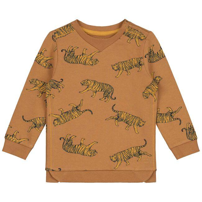 Prenatal peuter jongens sweater - Midbrown