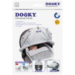 Dooky cover zonnescherm - Light Grey Crowns