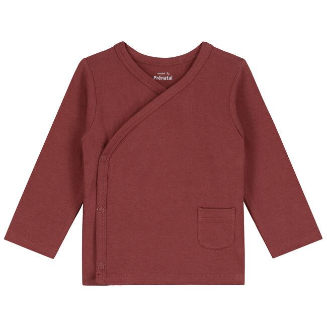 Prenatal newborn unisex overslag shirtje - Darkred