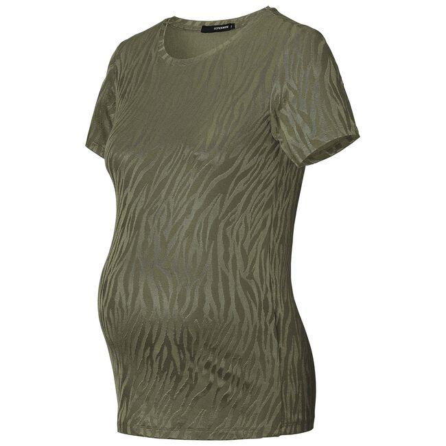 Supermom zwangerschaps T-shirt - Khakigreen