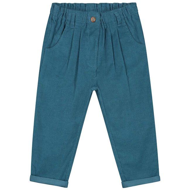 Prénatal peuter meisjes broek - Dark Turquoise Blue