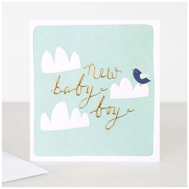 MapPublishing kaartserie Caroline Gardner 'New Baby Boy Clouds' - Mint