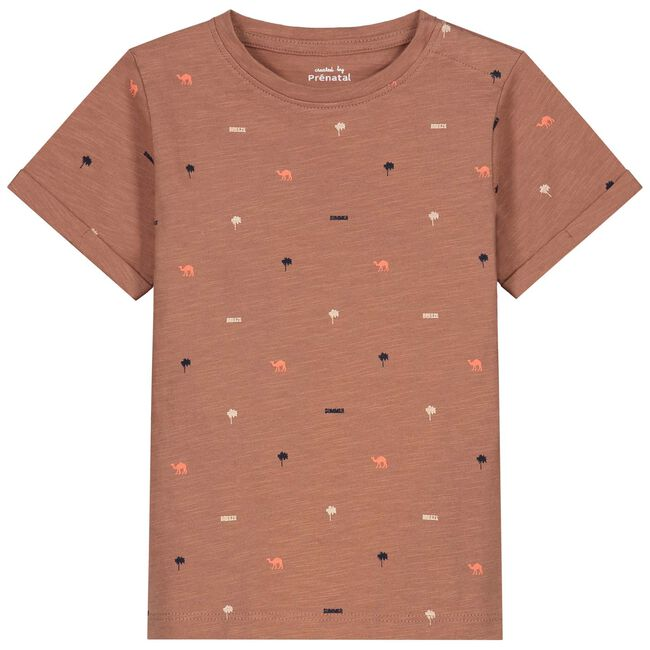 Prénatal peuter T-shirt - Dark Red Brown