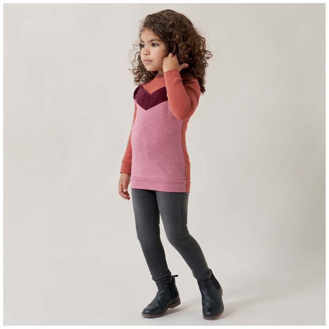Prenatal peuter meisjes sweater - Deep Orange