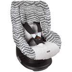 Dooky seatcover 1 by Prenatal - Grijs Met Zwarte Zigzag
