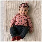 Prenatal newborn meisjes overslag shirtje - Dark Pink