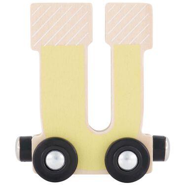 Prénatal houten namentrein letter U -