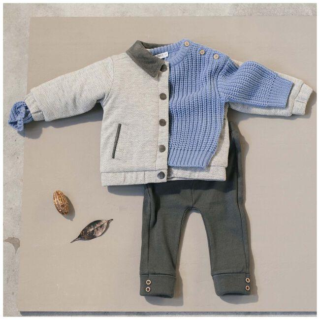 Sweet Petit baby unisex trui Rikki - Blue Grey