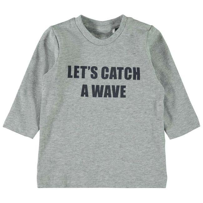 Name it baby jongens t-shirt - Grey Melee Light