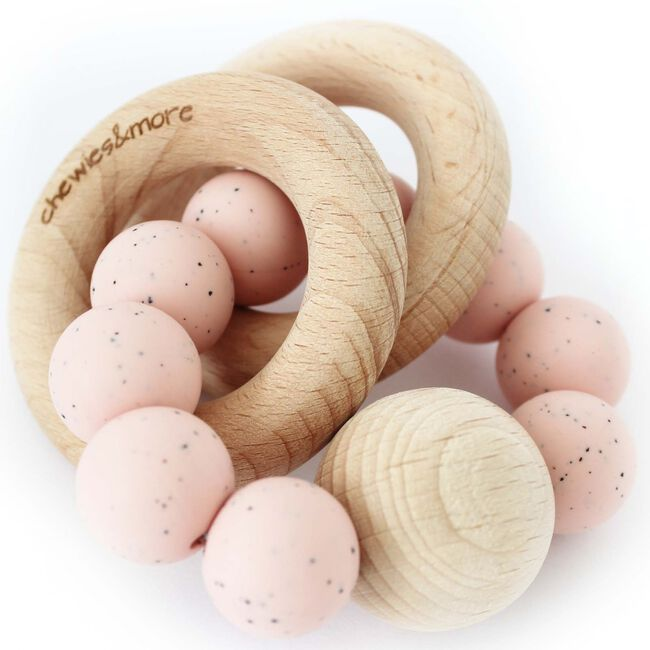 Chewies & more chewie rattle rammelaar - Soft Pink