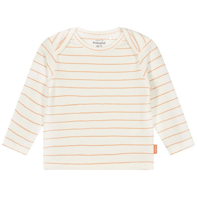Prénatal newborn unisex shirtje - Dark Off-White
