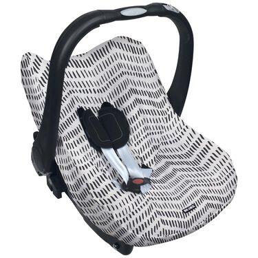 Dooky autostoelhoes groep 0+ by Prenatal - Grijs Met Zwarte Zigzag