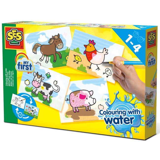 SES My First kleuren met water dieren - Multi