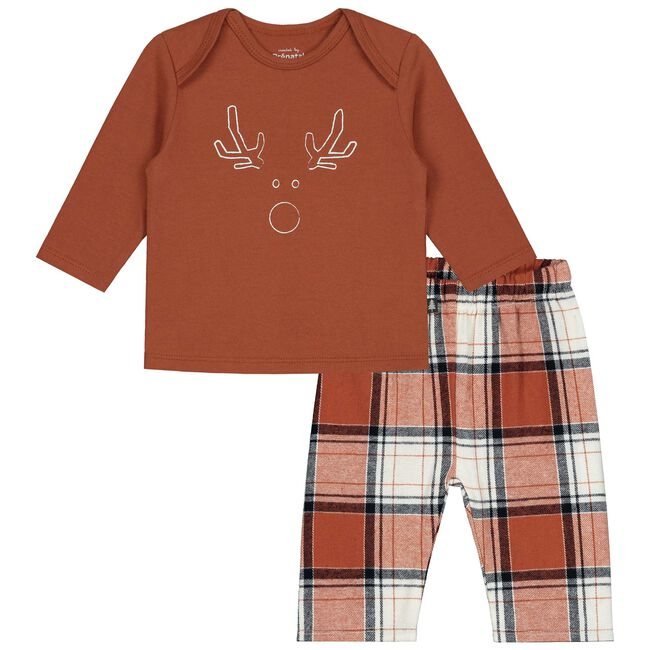 Prénatal baby pyjama - Dark Orange Brown