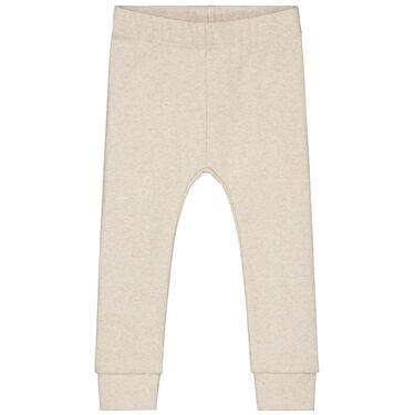 Prénatal peuter legging rib - Light Brown Melange