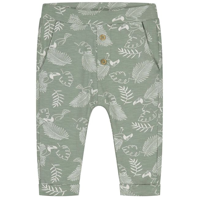 Prénatal newborn jongens broekje - Light Khaki Green