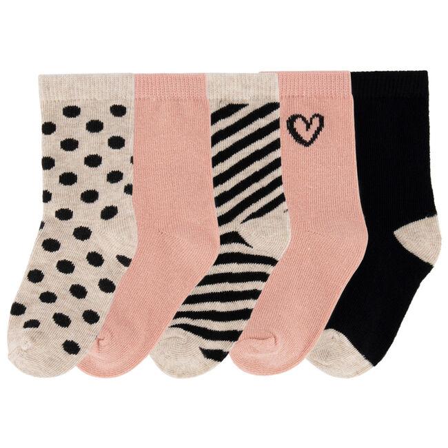 Prénatal meisjes sokken 5 stuks - Violet Pink