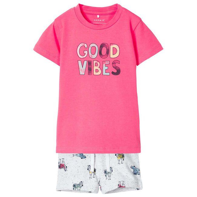 Name it jongens t-shirt en short - Mid Pink