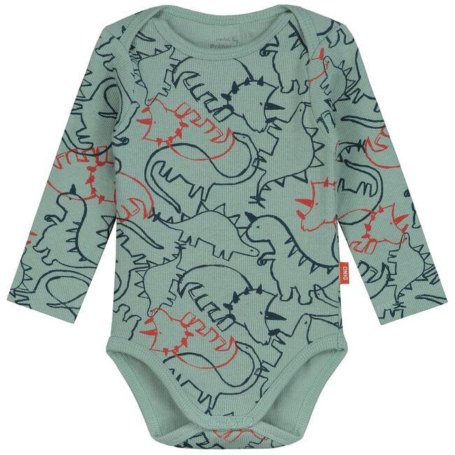 Prenatal romper met dino print - Midgreen