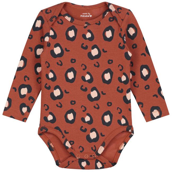 Prenatal peuter meisjes romper - Dark Orange Bown