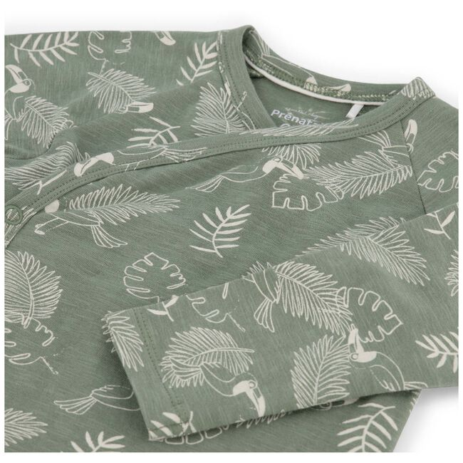 Prénatal newborn jongens overslag shirt - Light Khaki Green